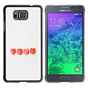 DIY PHONE CASE / Slim Protector Hard Shell Cover Case for Samsung GALAXY ALPHA G850 / Valentines Love Grey Clean by ruishername