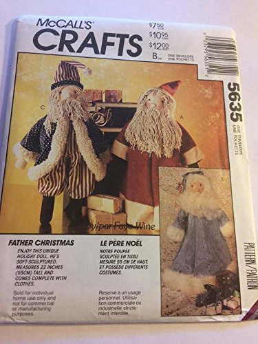 Amazon.com: McCall\'s 5636 Sewing Pattern, Santa Claus / Father ...