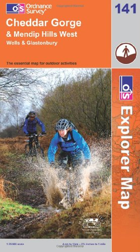 Cheddar Gorge and Mendip Hills West (Explorer Maps) 141 (OS Explorer Map)
