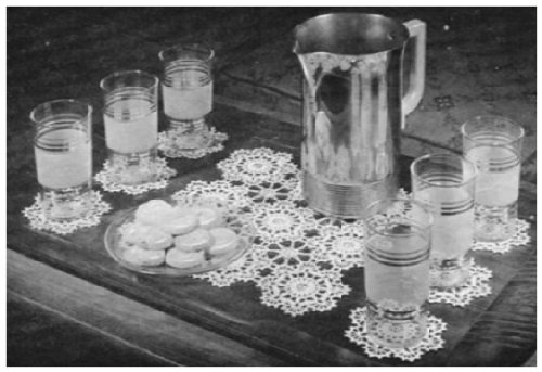 - #1017 REFRESHMENT SET VINTAGE CROCHET PATTERN