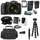 Nikon COOLPIX P600 Digital Camera (Black) + 64GB Memory Card + Vivitar Coco Series Small Gadget Camera Bag - Polyester + All in One High Speed Card Reader + Accessory Kit