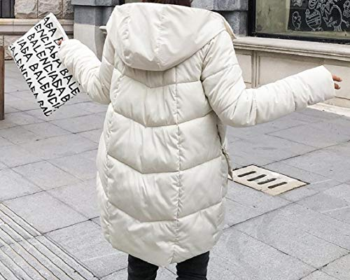 Puro Cofano lungo Energywomen Medio Colore Rilassato Bianco Piumino Cerniera Intascato ZAq7vB