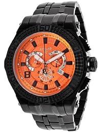 Men's Buzo 52 Chronograph Orange Dial Black IP Stainless Steel