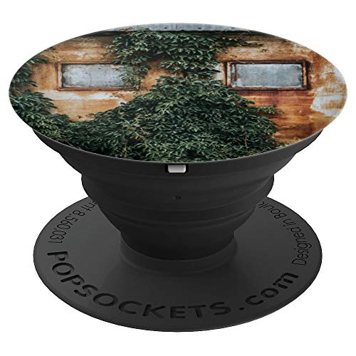 - Vines Growth Over Steel Rust Metal Concrete Door - PopSockets Grip and Stand for Phones and Tablets