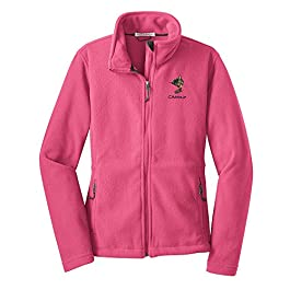 Women's  Embroidered Fleece Full Zip Jacket
