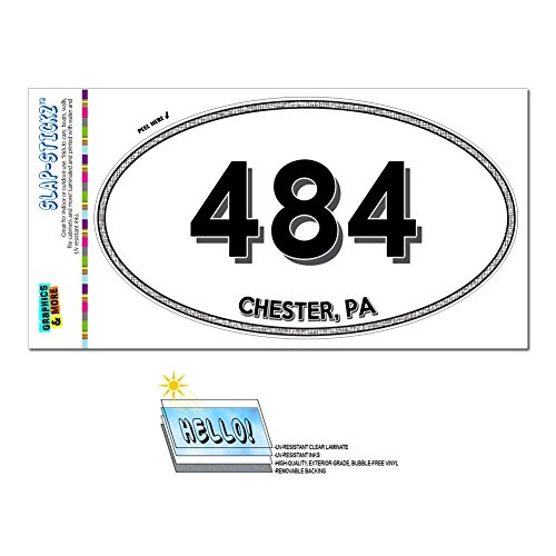 Graphics and More Area Code Oval Window Sticker 484 Pennsylvania PA Allentown - West Grove - - The Pennsylvania Grove