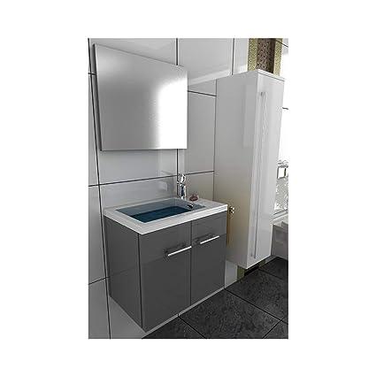 Lavabo con mobiletto grigio design Mobile Bagno Lavabo armadio a ...