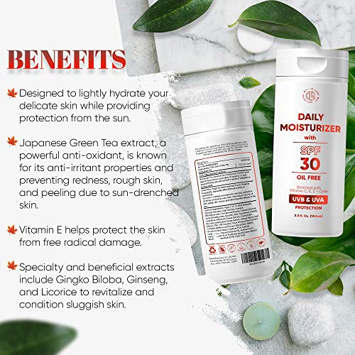 Every Day Moisturizer for Face and Neck with SPF30, Enriched with Vitamin C&E and Z - Cote, Lightly Hydrate Your Skin, Providing Protection From the Sun and Free Radical Damage, For All Skin Types