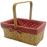 CALIFORNIA PICNI Picnic Basket Natural Woven Bamboo
