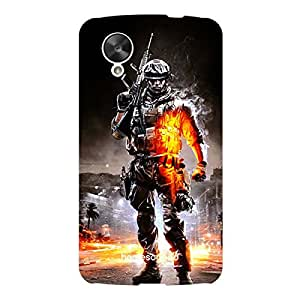 HomeSoGood Military Guardians Multicolor 3D Mobile Case For LG Nexus 5 (Back Cover)