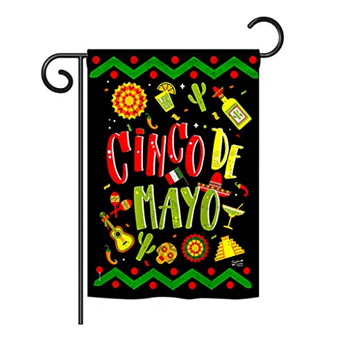 Angeleno Heritage Ready to Cinco de Mayo Country & Primitive - Everyday Southwest Impressions Decorative Vertical Garden Flag 13