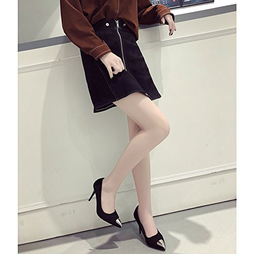Metal amp;Mai Sandals Heel Elegant Pumps Women Y Black Toe Stiletto Point qOdxH775w