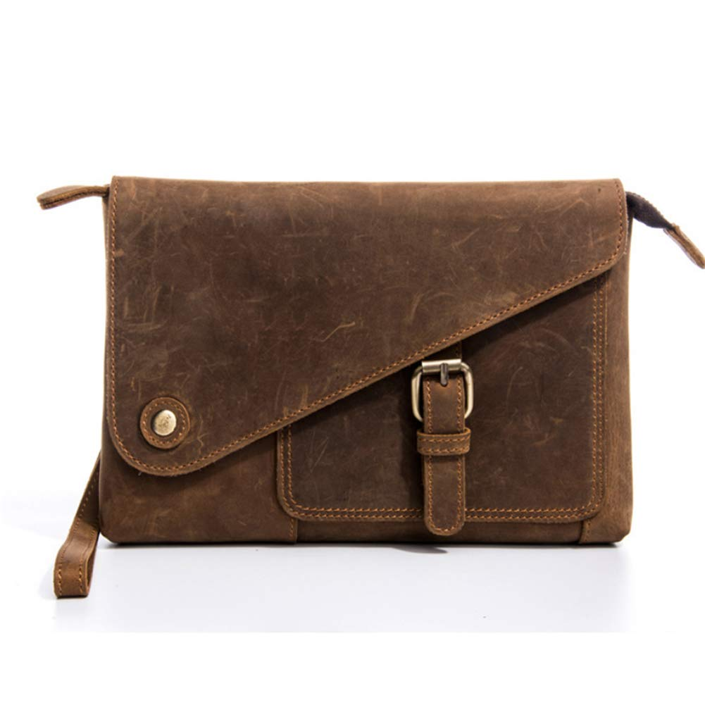 LQUIDE Herren Handtasche Wearable Casual Clip Mit 21Cm Handgurt Kann 6,5 Zoll Handy, Geldbörse, Schlüssel, Zigarette Halten