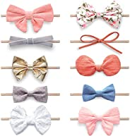 Baby Girl Headbands and Bows, Newborn Infant Toddler Nylon Hairbands Hair Accessories by KiddyCare