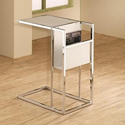 coaster-snack-table-white