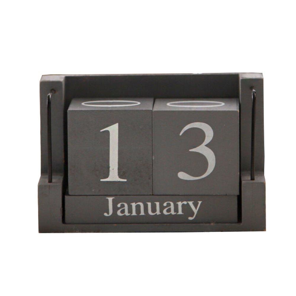 MyLifeUNIT Shabby Desktop Wood Block Perpetual Calendar by MyLifeUNIT (Image #1)