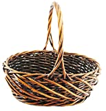 TOPOT 8SET Set of 3 Dark Brown Weave Willow Basket with Handles wholesale lot