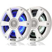 FUSION FL65SPW Signature Series Speaker - 6.5 , 230W Coaxial Sport - White w/LED Illumination