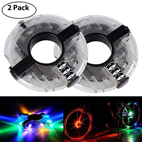 Colorful LED Bicycle Wheel Decoration Lights 3 Modes Cycling Bike Spoke Light Safety Light by LoveUlife (Image #5)