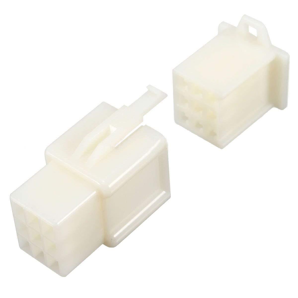 Anschluss 5 x 9 Kan/äle 2,8 mm Mini Verbinder Set f/ür Auto Motorrad Pin Terminal Blende ATV wei/ß