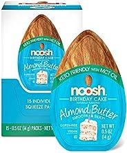 NOOSH Keto Birthday Cake Almond Butter Packets 15ct (0.5oz) - Vegan, Gluten Free, Kosher, Non GMO, No Soy, No