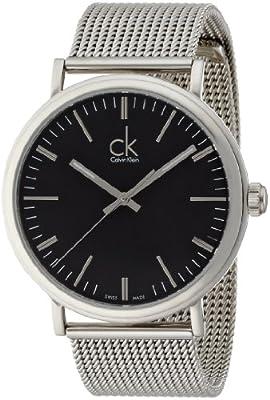 Calvin Klein Men's 'Surround' Swiss Quartz Stainless Steel Casual Watch, Color:Silver-Toned (Model: K3W21121)