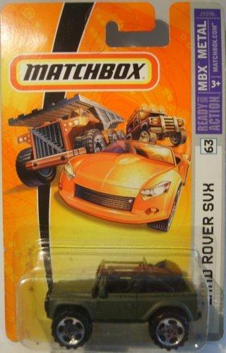 Mattel Matchbox 2006 MBX Metal 1:64 Scale Die Cast Car # 63 - Camo Green 4X4 SUV Land Rover SVX by Matchbox 4 X 4 Land Rover