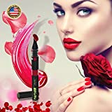 Lip Pen, HerbiAR Click Stick Lip Pen, Travel-friendly Lipstick Highlighter Pen and One-handed use, Long-lasting and Moisturizing Lipstick Pen in 5 different Colors (104 Cabernet)