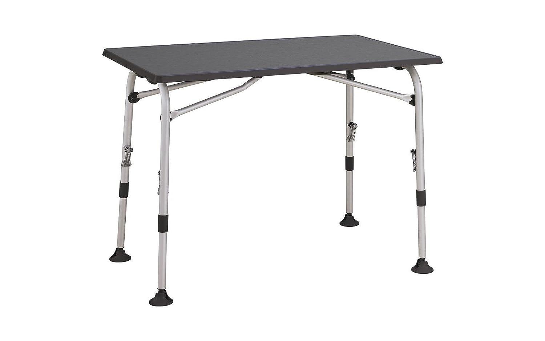 Westfield Tisch Aircolite, grau, L 120 x B 80 cm, höhenverstellbar, Klapptisch, Campingtisch, Balkontisch
