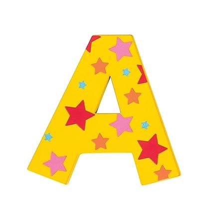 Green Bigjigs Toys Star Letter A