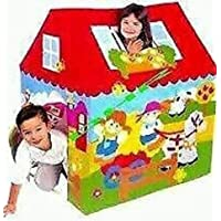 Mother glory Plastic Betty Play Tent House for Kids (Multicolour) (Without Wheel)