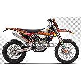 Kungfu Graphics 2017 KTM 125 150 250 300 350 450 500 EXC EXC-F XCW Custom Graphic Decal Kit