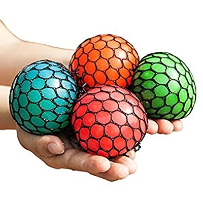2 Mesh Squishy Stress Balls Fidget, Relax Therapy: Toys & Games