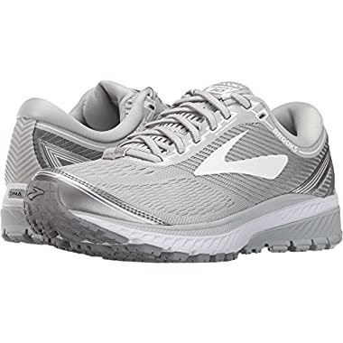 69275bc0bfd Brooks Women s Ghost 10 Microchip White Metallic Charcoal 12 ...