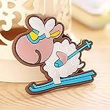 mini fridge wood cover - Yeefant 4 PCS Cute Cartoon Sheep Magnetic Collage Animals Magnets Fridge Sticker Refrigerator for Child Preschool School Adult Toddlers