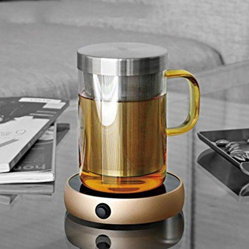 Coffee Warmer silicone Electronic Teapot Warmer Blooming Coffee Selling Cup Warmer Heater 220V Home Kitchen Office Random Color by Thappymart