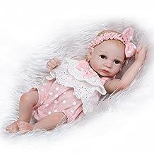 NPK Collection Reborn Baby Doll Full Silicone Anatomically Correct Tiny Reborn Preemie 10inch 26cm Kids Bathing Sleeping Doll Pink Mini Dress