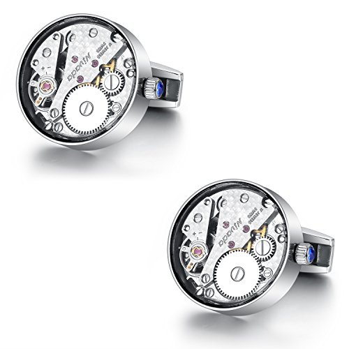 - Dich Creat Limited Edition Titanium Swiss Working Watch Movement Cufflinks Covered with Sapphire Glass