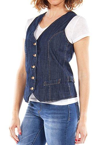 490 Lavage Gilet Carrera Sans Pour 100 Bleu Femme Jean Manches En Taille Foncé Slim Jeans 7HaxwT