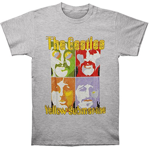 The Beatles Mens Sea Of Science Short Sleeve T Shirt  Grey  Heather   Medium