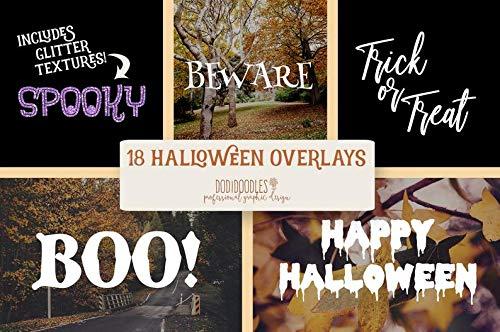 Halloween Glitter Clipart (AprilLove Happy Halloween Overlay, Glitter Overlays, Clipart, Clip Art, Scary Words, Photography Overlays, Glitter Words, Digital Halloween)