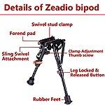 Zeadio Bipied Extensible réglable (15 à 23 cm / 6 à 9 Pouces) 14