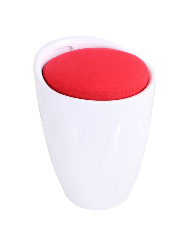 Esperanza Hocker ABS Lagerung, Stabile Schuhbank, Foyer Schlafzimmer Shop Garderobe Kinderzimmer (Schwarz Weiß rot Cover