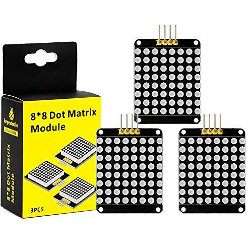 - KEYESTUDIO 3 Pcs I2C 8x8 LED Matrix HT16K33 Module for Arduino A/Raspberry Pi/AVR/STM32 ...