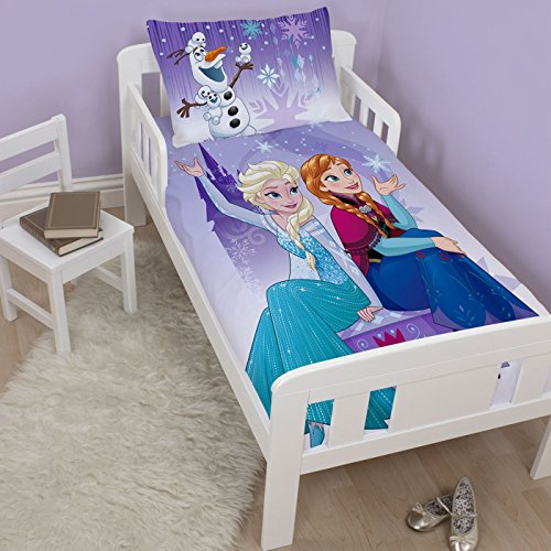 Disney Frozen Snowflake UK Junior/US Toddler Duvet Cover and Pillowcase Set