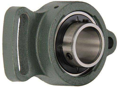 - NTN UCFA206D1 Light Duty Adjustable Flange Bearing, 2 Bolts, Setscrew Lock, Regreasable, Contact and Flinger Seals, Cast Iron, 300mm Bore, 4-17/32