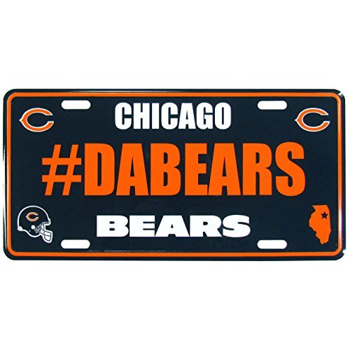 Siskiyou NFL Chicago Bears Unisex Hashtag License Plate -