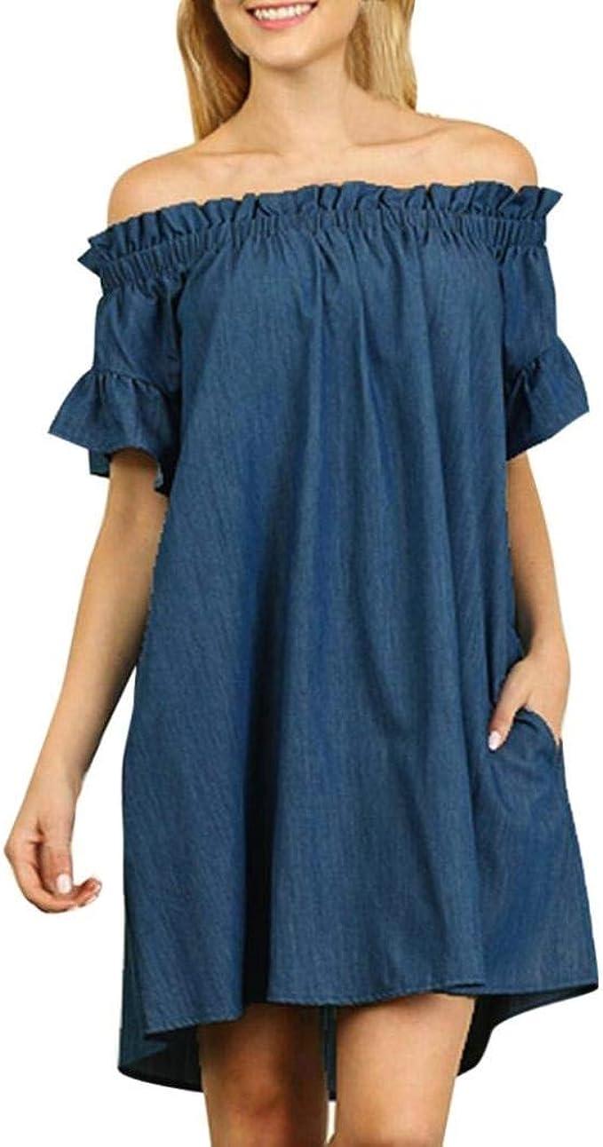Vestido De Noche Vestido Mujer Para Largo De Mezclilla Vestido ...
