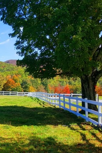 Journal White Split Rail Fence Mountain Background: (Notebook, Diary, Blank Book) (Seasonal Fall Photo Journals Notebooks Diaries) ()