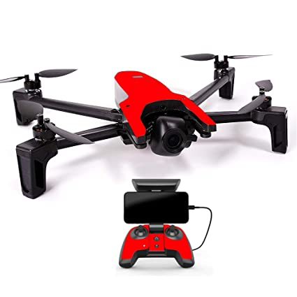 MightySkins Skin for Parrot Anafi Drone - Solid Red | Protective, Durable,  and Unique Vinyl Decal wrap Cover | Easy to Apply, Remove, and Change